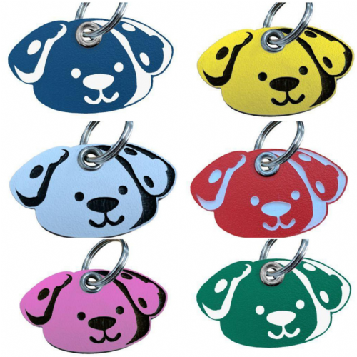 Acrylic Shaped Dog  ID Tags - engraved on back